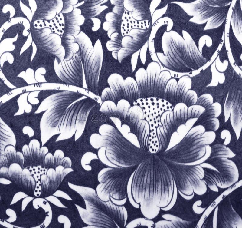 Керамический цветок стены стоковое изображение