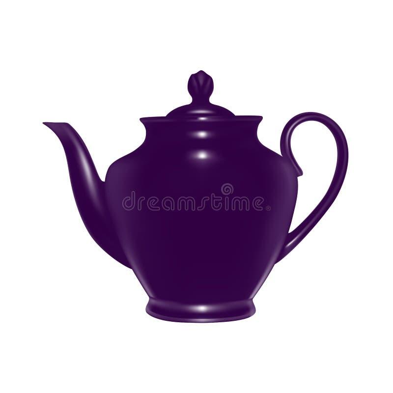 Керамический чайник в векторе иллюстрация штока