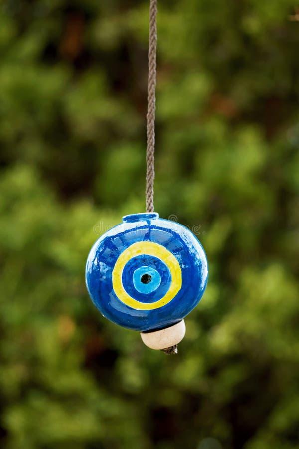 Керамический шарик дурного глаза стоковое фото