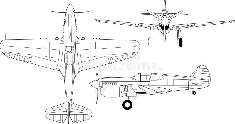 Кертис p-40 бесплатная иллюстрация