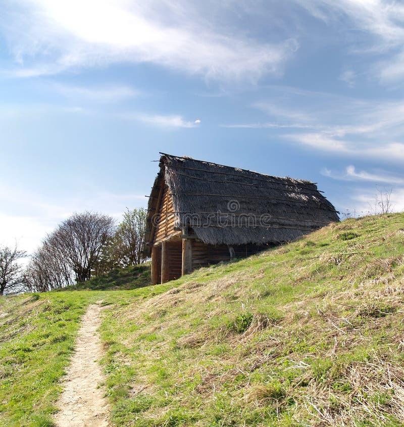 Кельтская хата, Havranok Skansen, Словакия стоковые фотографии rf