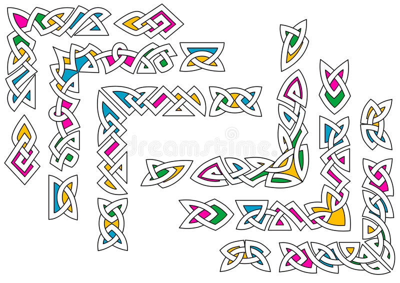 Кельтские картины орнамента иллюстрация вектора