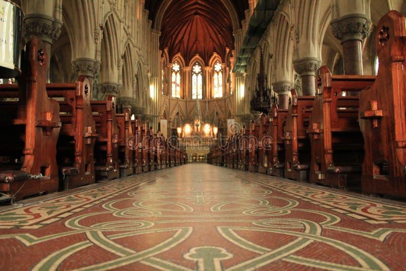 Кельтский интерьер собора стоковое изображение rf