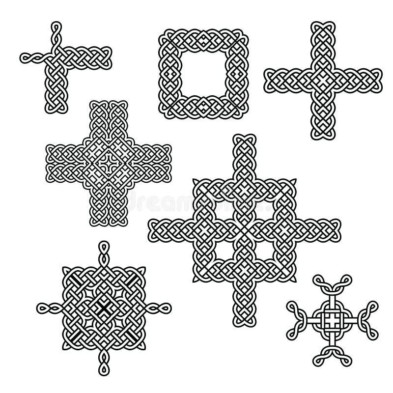 Кельтский комплект элемента узла иллюстрация вектора