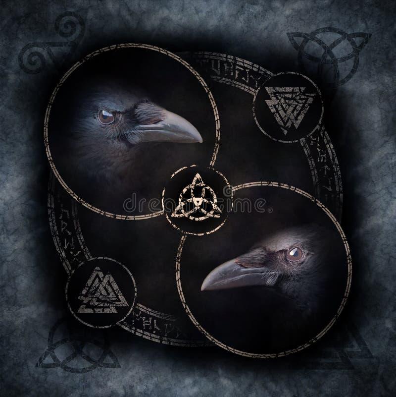 Кельтский круг вороны стоковые фото