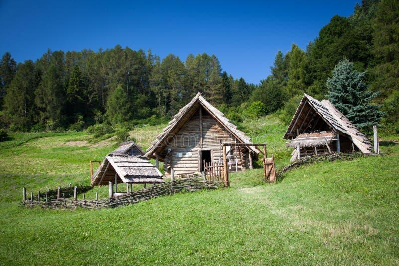 Кельтское поселение на Havranok - Словакии стоковая фотография