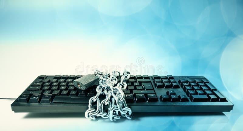Кибер атака, база данных банка цели стоковое фото