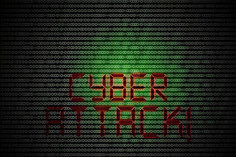 Кибер атака стоковые изображения rf