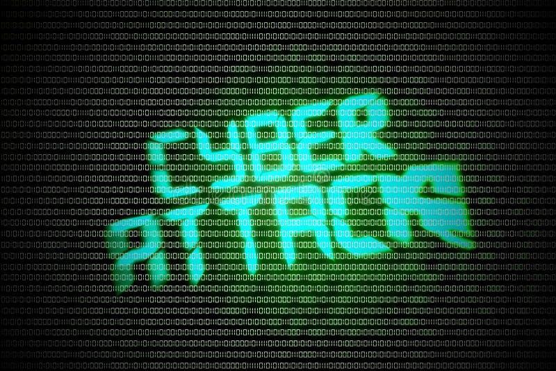Кибер атака иллюстрация вектора