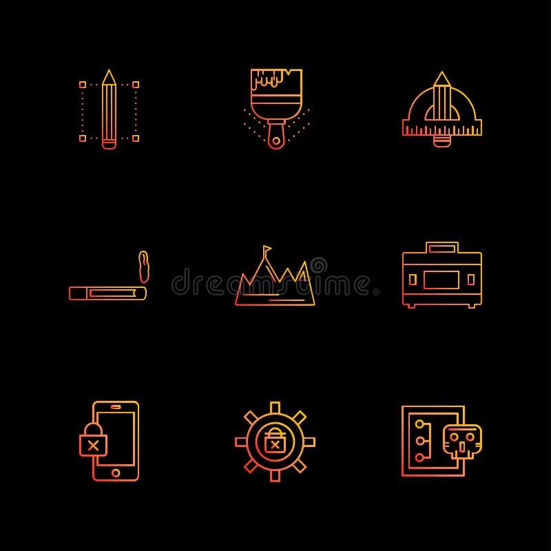 кибер, безопасность, безопасность интернета, неподвижные детали, eps ic иллюстрация вектора