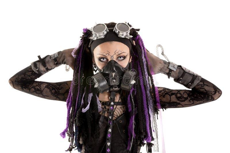 Кибер-готическая девушка стоковые изображения rf