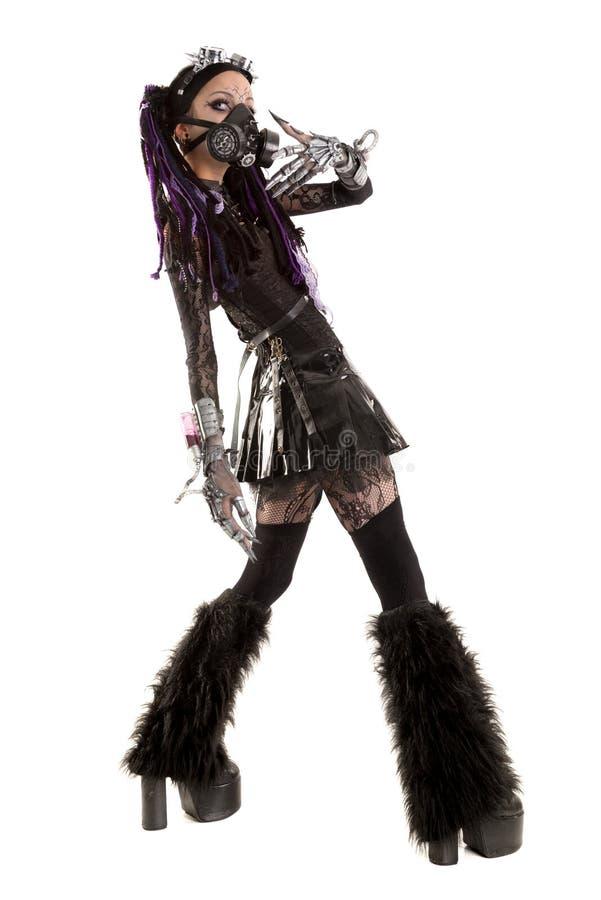 Кибер-готическая девушка стоковые фотографии rf