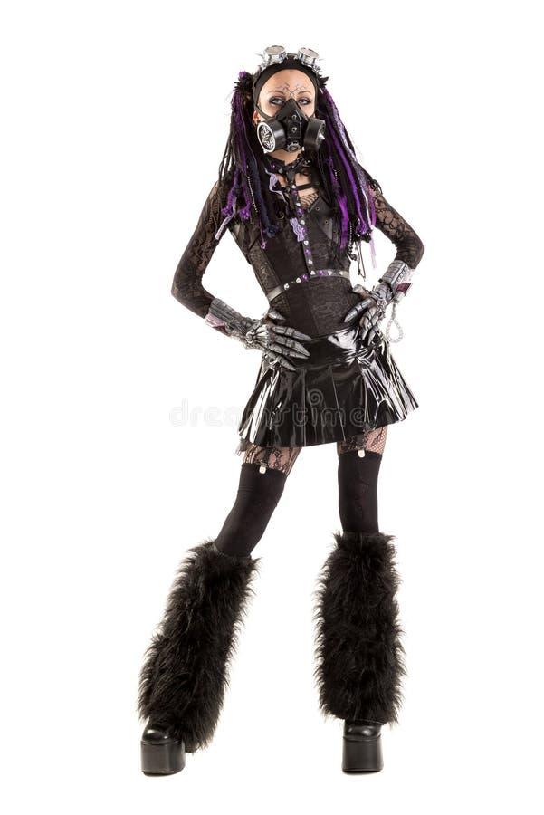 Кибер-готическая девушка стоковая фотография