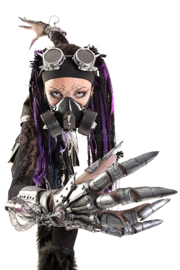 Кибер-готическая девушка стоковые изображения