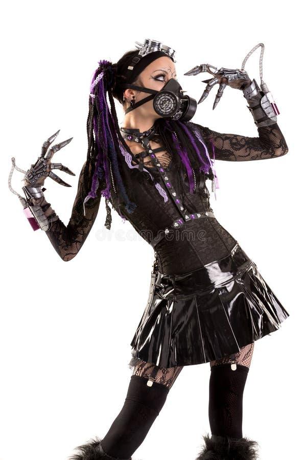 Кибер-готическая девушка стоковая фотография rf