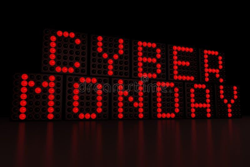 Кибер понедельник бесплатная иллюстрация