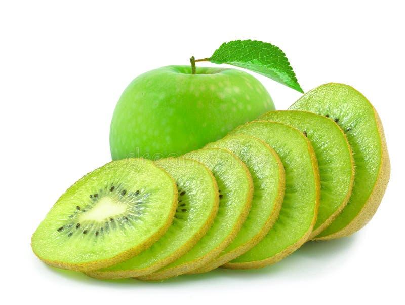 Киви и яблоко стоковое фото rf