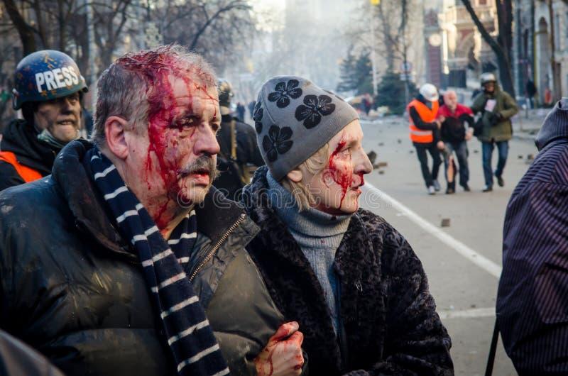 Киев 19-ое февраля 2014 стоковая фотография