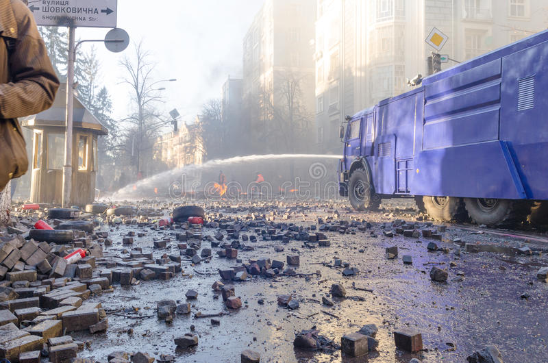 Киев 19-ое февраля 2014 стоковая фотография rf