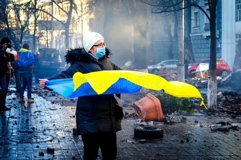 Киев 19-ое февраля 2014 стоковые изображения