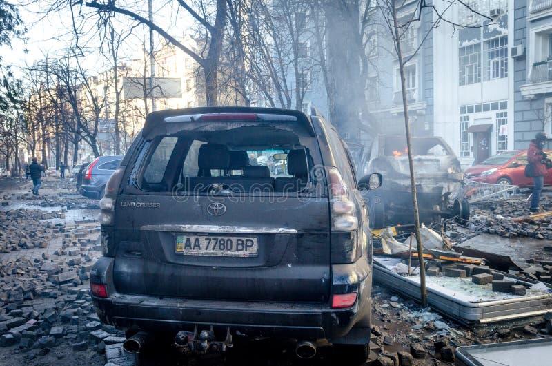 Киев 19-ое февраля 2014 стоковое изображение