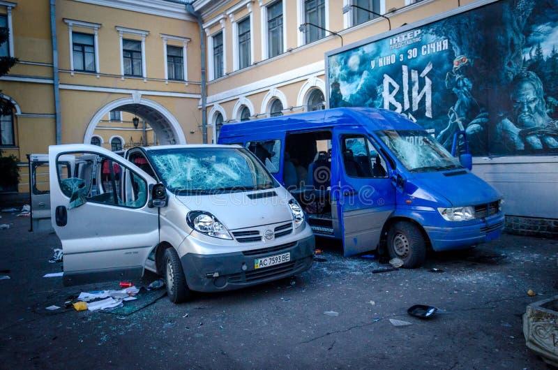 Киев 19-ое февраля 2014 стоковые фото