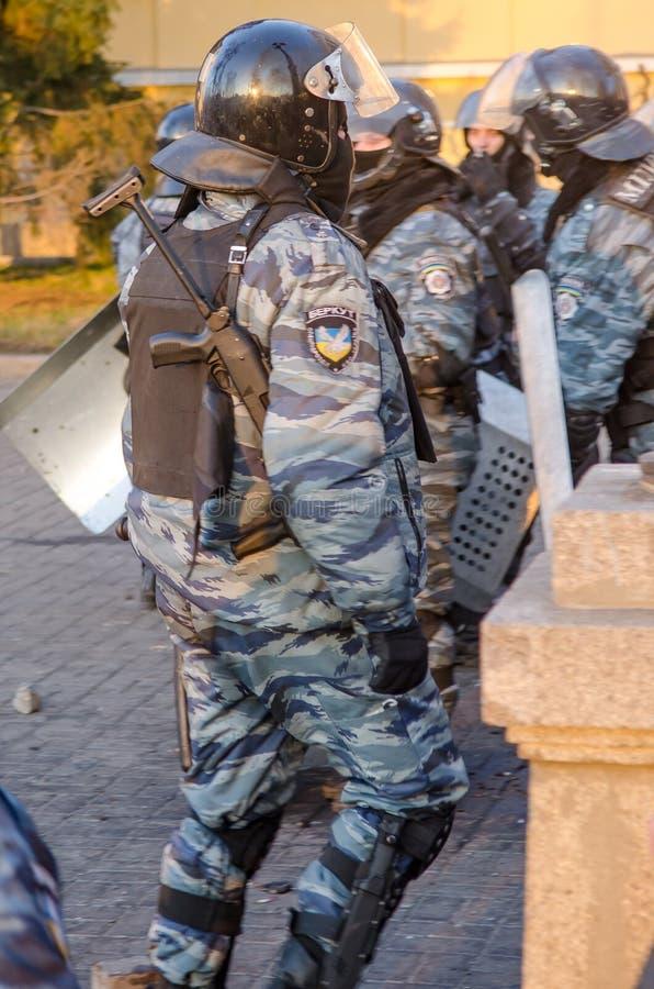 Киев 19-ое февраля 2014 стоковое фото rf