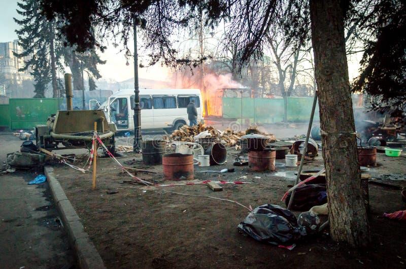 Киев 19-ое февраля 2014 стоковое изображение rf