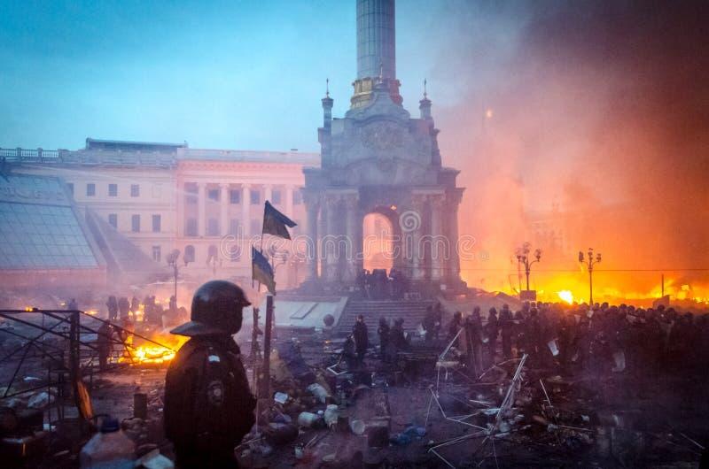 Киев 19-ое февраля 2014 стоковые фотографии rf