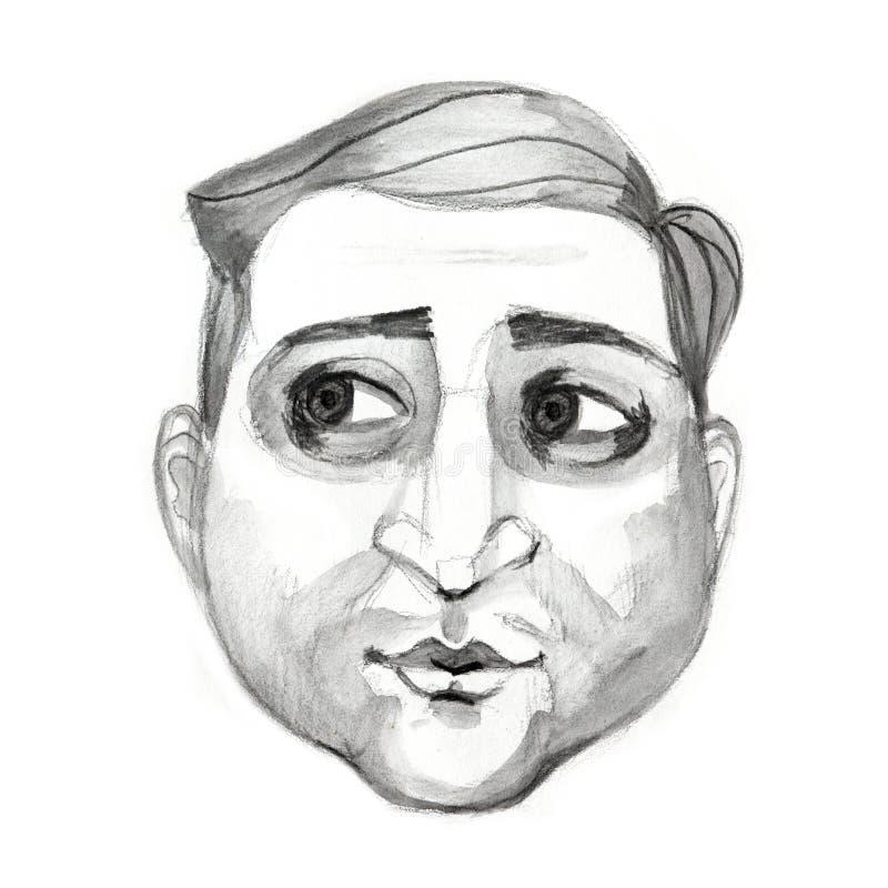 Киев, Украина - 11-ое апреля 2019 Портрет президента Украины Владимир Zelensky Руководитель Kvartal 95 комедийного актера актера бесплатная иллюстрация