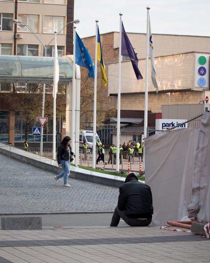 Киев, Украина 19-ое апреля 2019 Спор 2019 UA президентский Стадион Киева Olympiyskiy стоковые фото