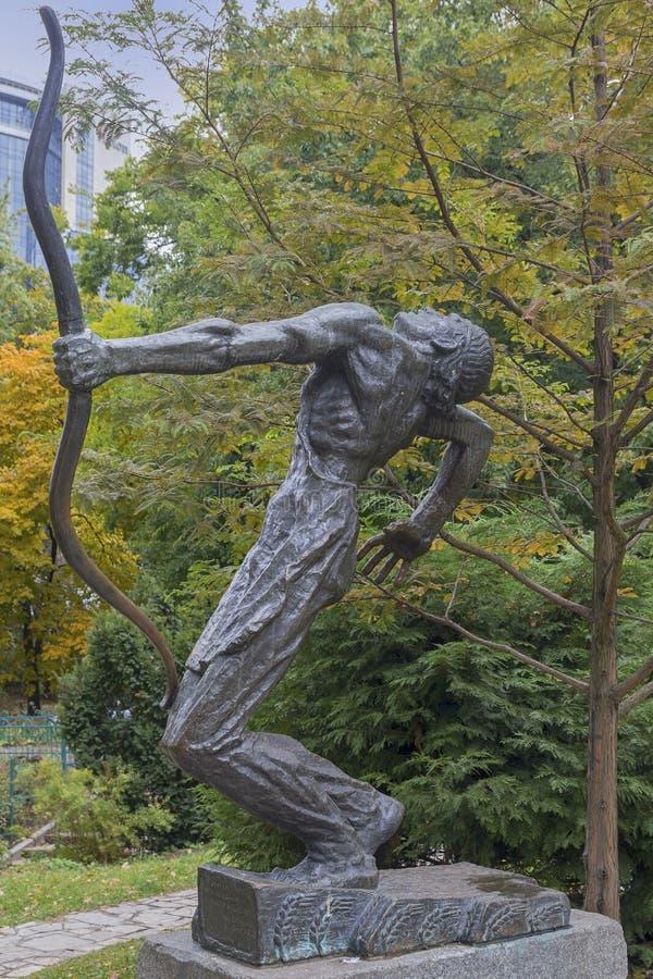 Киев, Украина - 14-ое октября 2017: Памятник к студентам и учителям университета Киева стоковое фото