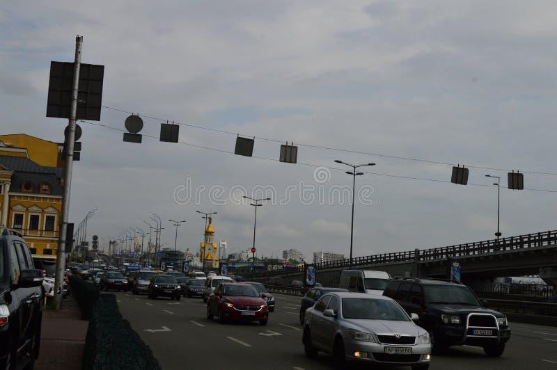 Киев, Украина Украина 7 05 2019; Переход в Киеве и городской жизни стоковые изображения