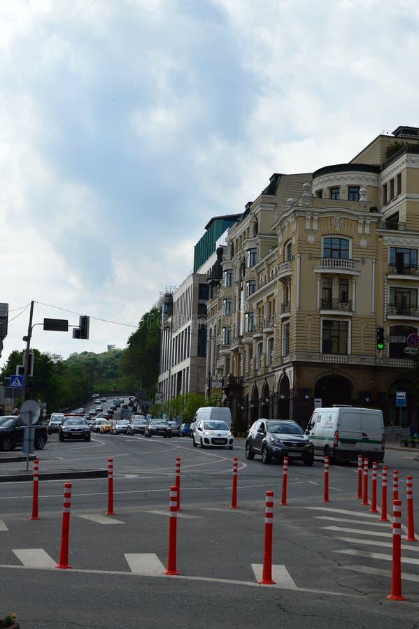Киев, Украина Украина 7 05 2019; Переход в Киеве и городской жизни стоковое изображение