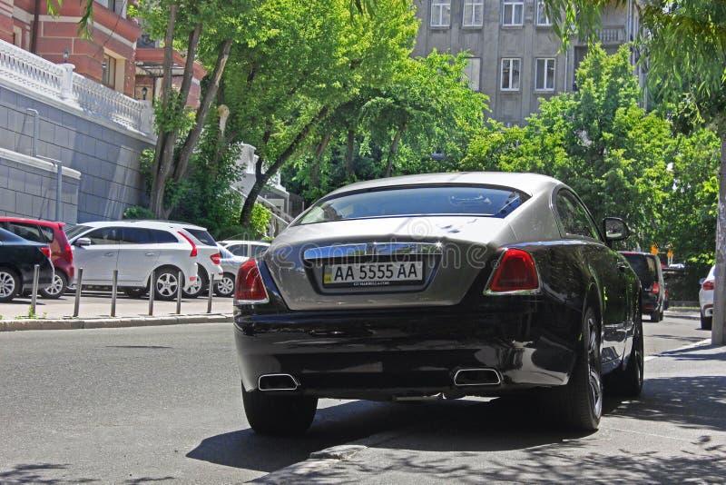 Киев, Украин 10-ое июня 2017 ПРИЗРАК ROLLS ROYCE стоковое изображение