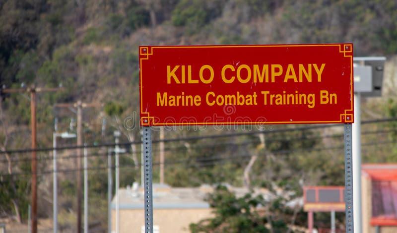 Кило Компания на основании Camp Pendleton морской пехот США стоковое фото rf