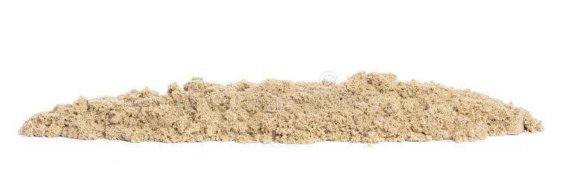 Кинетический песок в конце-вверх кучи для творческих способностей детей и крытой или внешней игры изолированных на белой предпосы стоковые фото