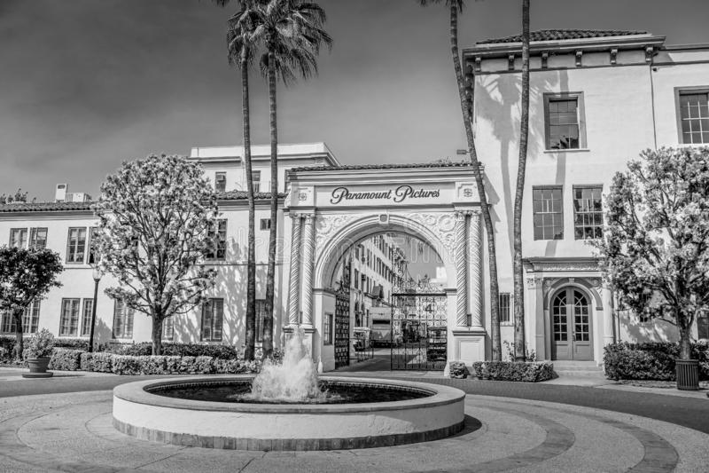 Киностудии Paramount Pictures на Лос-Анджелесе - КАЛИФОРНИЯ, США - 18-ОЕ МАРТА 2019 стоковые изображения rf
