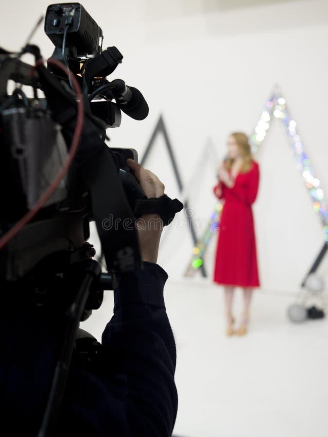 Киносъемка студии, работая сцена стоковая фотография rf