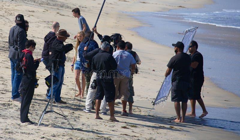 Киносъемка Madre Ruta на положении на имперском пляже стоковые фотографии rf