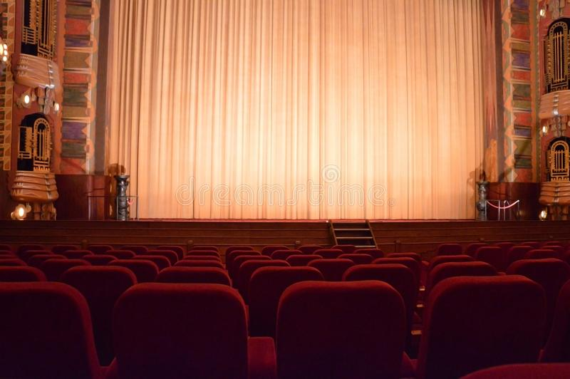 Кинотеатр Амстердам Pathe Tuschinski Нидерланды стоковое фото rf