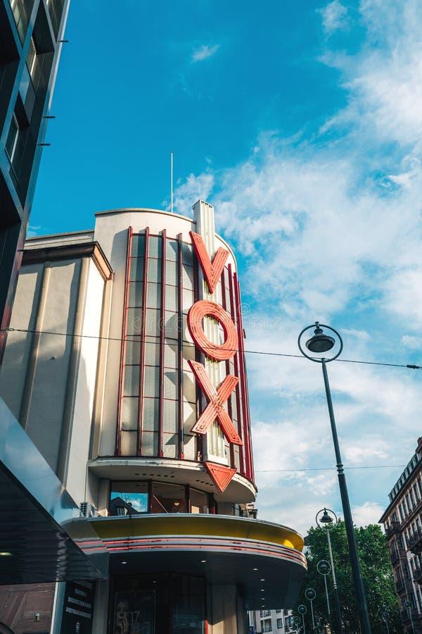 Кинотеатр кино Vox в центральном страсбурге стоковые изображения