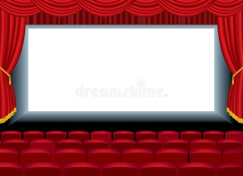 кино длиной иллюстрация вектора