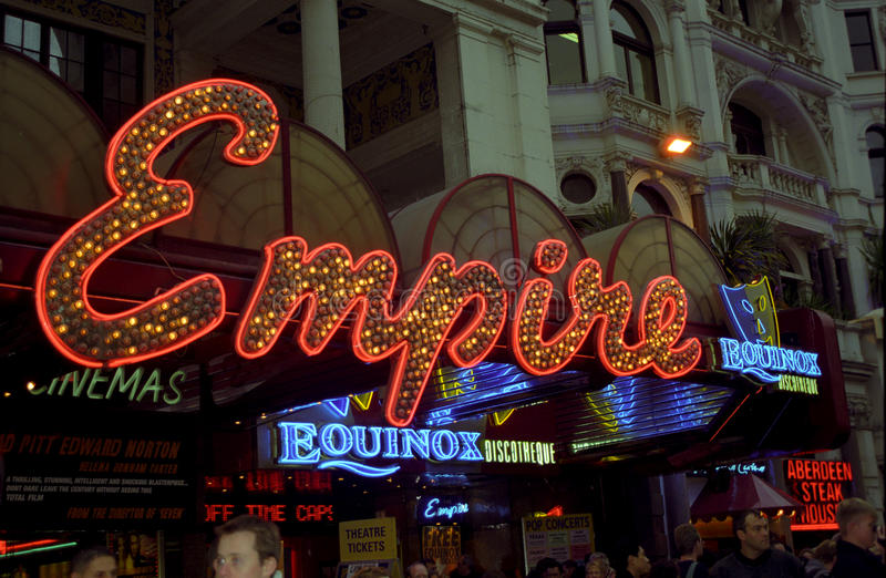 Кино империи, Лондон, Англия стоковое фото rf