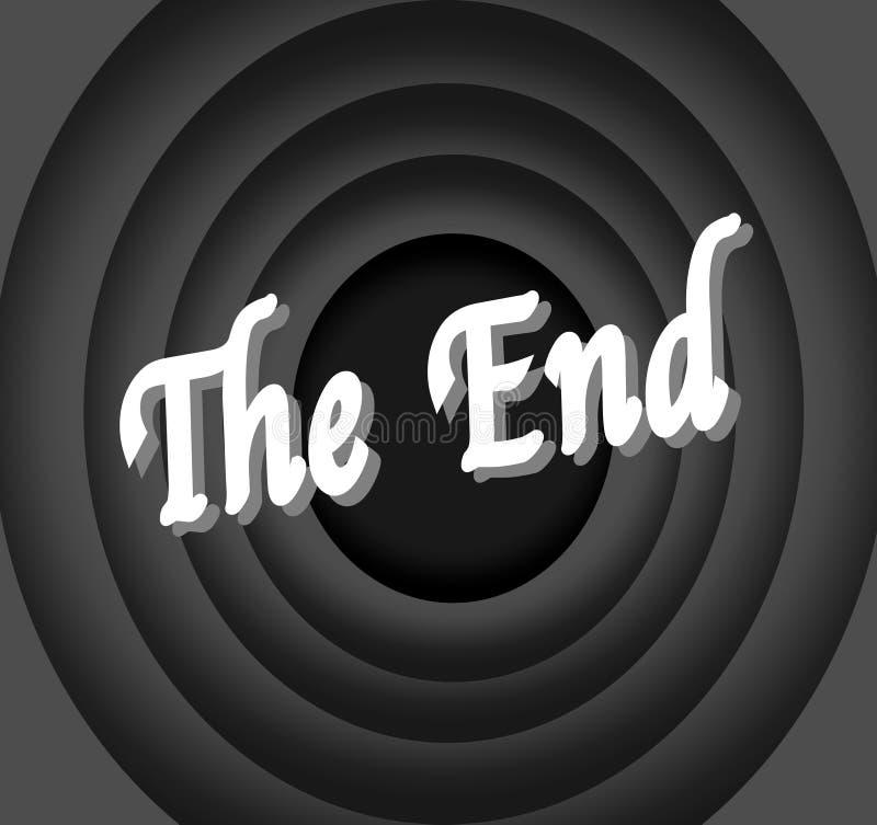 Кино конца иллюстрация штока