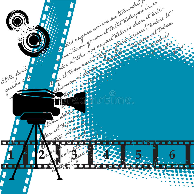 кино предпосылки иллюстрация вектора