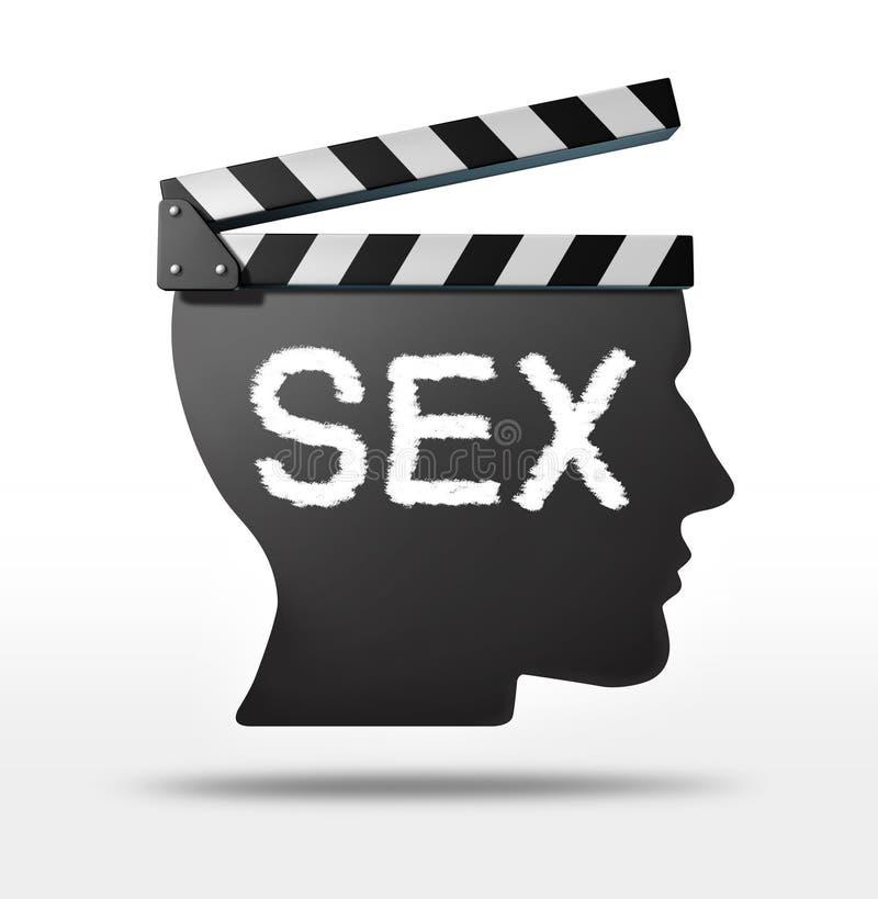 Кино секса иллюстрация вектора