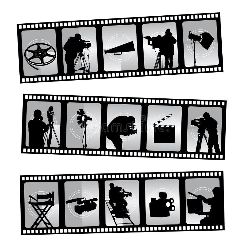 кино filmstrip иллюстрация вектора