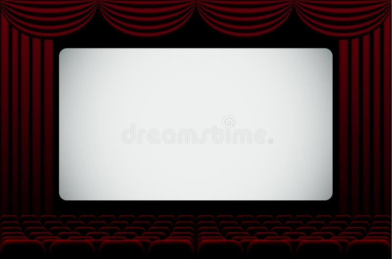 Кино Hall иллюстрация вектора
