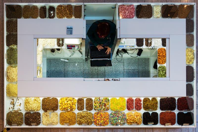 Киоск 1 конфеты стоковое изображение rf